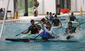 The Bank sponsored the 16th Asian Canoe Polo Championships 2015 to help promote the sports development in Hong Kong. (Photo provided by The Hong Kong Canoe Union)