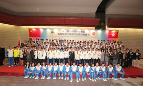 All the guests took a group photo after the Flag Presentation Ceremony of The 1st National Youth Games.