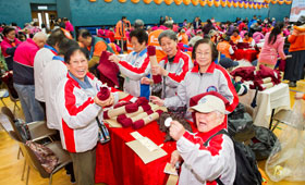 "The Bank set a new record of ""Most people sewing simultaneously"" with 333 senior citizens."