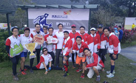 Wing Lung Bank's athletic colleagues are ready for the journey.